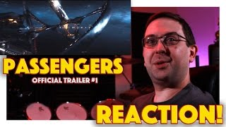 REACTION Passengers Official Trailer 1  Jennifer Lawrence Movie 2016