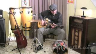 One man band jam w-dobro guitar / Country song from Loney Hutchins (Johnny Cash)
