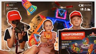 Снимаем кино с Magformers Fixie Mastermind Set!