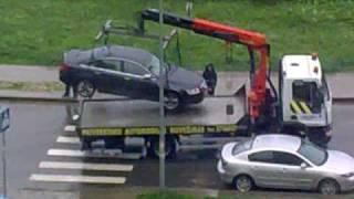 Эвакуатор, Audi A6, Вильнюс