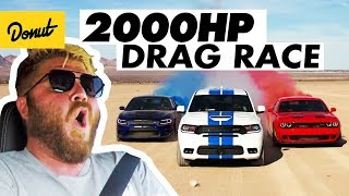 Drag Racing a Charger, Challenger, and Durango in the Desert