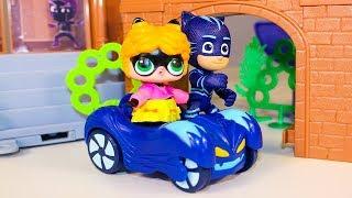 Герои в масках Мультики про машинки Кукла ЛОЛ угнала Кэтмобиль Мультики для детей