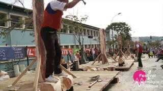 preview picture of video 'Concours international de bûcherons de Palaiseau'