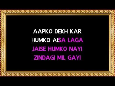 Aap Ko Dekh Kar Humko Aisa Laga Karaoke (With Female Vocals) - Kumar Sanu & Alka Yagnik