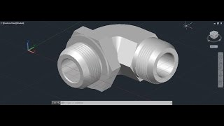 AutoCAD 3D Elbow Pipe Tutorial, 90 Corner Pipe Water Connection Pipe Fitting, Basic Training