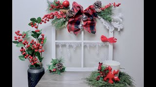DIY Wooden Window Frame - Buffalo Plaid-Super Simple Christmas Holiday Crafts