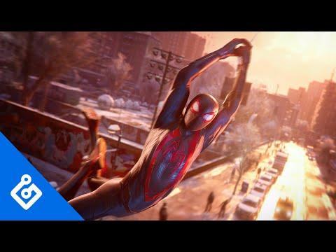 Le Rhino et Jameson dans une vidéo de gameplay de Marvel's Spider-Man: Miles Morales