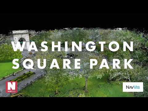 Washington Square Park NYC Point Cloud Fly-through