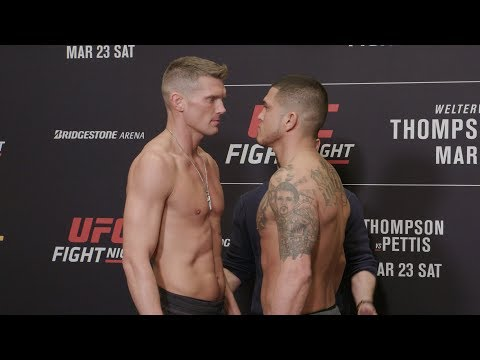 Les face-à-face lors de le pesée de l'UFC on ESPN+ 6