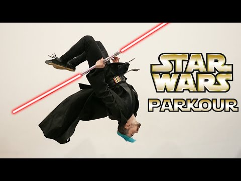 Star Wars Parkour In Real Life (Lightsaber Training)