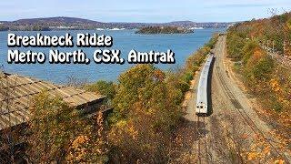 Breakneck Ridge Trains: Metro North, CSX, Amtrak - Storm King Mountain, Bannerman's Castle