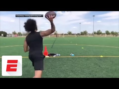 Colin Kaepernick shows off passing skills in workout | ESPN