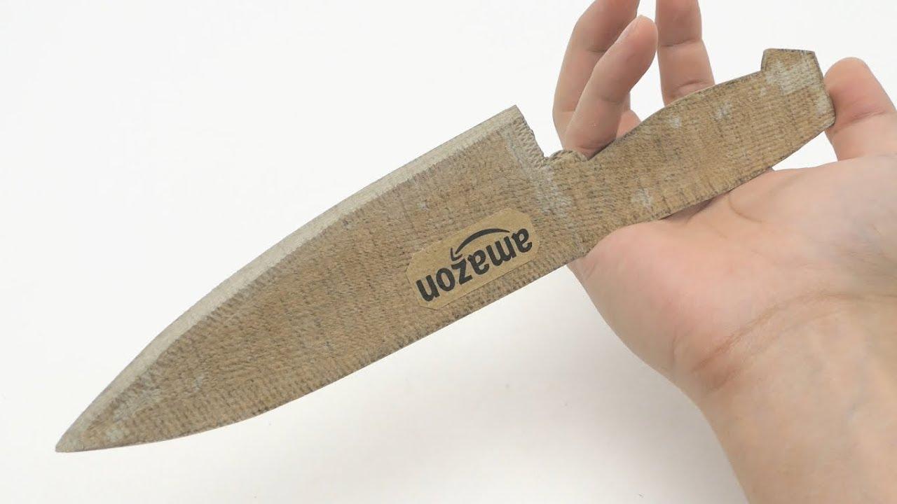 Ein echt scharfes Küchenmesser aus Karton basteln