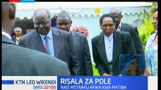 Rais mstaafu Mwai Kibaki atembelea familia ya Kenneth Matiba  mjini Limuru