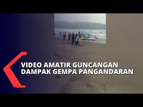 video amatir guncangan gempa pangandaran yang terasa hingga jateng