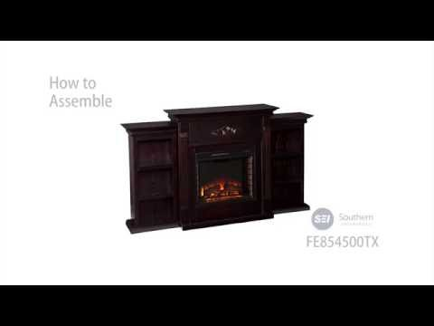 FE8545: Tennyson Electric Fireplace w/ Bookcases - Classic Espresso Assembly Video