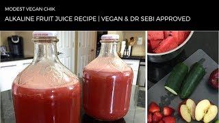 Alkaline Fruit Juice Recipe   Dr Sebi Approved   Breville Juicer