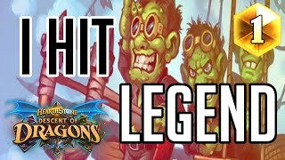 I Hit Legend!!! | How to Play Face Hunter | (Descent of Dragons)