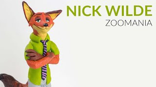NICK WILDE (Zootopia) – Polymer Clay Tutorial