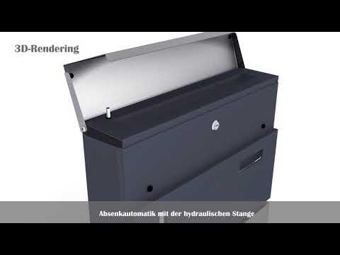 Edelstahl Briefkasten Wandbriefkasten mit Hydraulische Stange