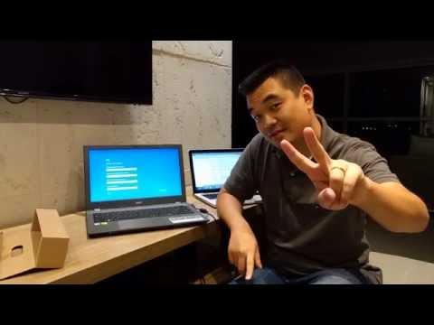 Unboxing e primeiras impressões do Acer E5 574G 73NZ