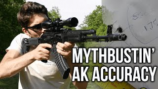 Mythbusting Is The AK REALLY Inaccurate Compared To An AR15
