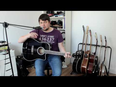 Die billigste Westerngitarre? Harley Benton HBD-120CE | Tanuel Reviews #1