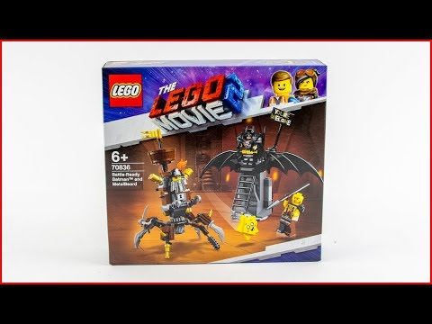 LEGO MOVIE 2 70836 Battle-Ready Batman and MetalBeard Construction Toy - UNBOXING