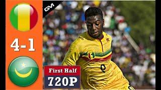 Mali Vs Mauritania 4-1 Highlights & All Goals First Half 24.06.2019