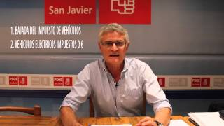 preview picture of video 'San Javier - Bajada de impuestos a vehículos eléctricos y furgonetas'
