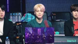 190106 BTS (Jin,Jimin,Suga) Reaction To Twice   BDZ, What Is Love? And BTS Hyundai  @GDA 2019