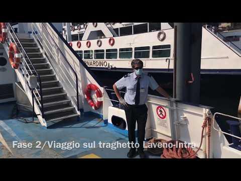 Fase due: viaggio in traghetto da Laveno Mombello a Intra