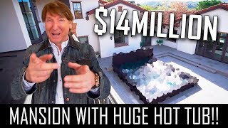 $14MILLION SHADY CANYON VILLA WITH THE WORLDS BIGGEST HOT TUB!!