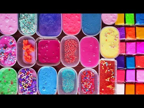 Old Slime Mixing - Slime Smoothies - Izabela Stress 1 hour slime video