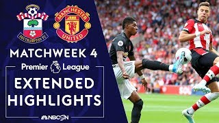 Southampton v. Manchester United | PREMIER LEAGUE HIGHLIGHTS | 8/31/19 | NBC Sports