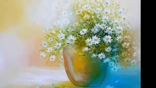 Смотреть онлайн Как поэтапно нарисовать красивые цветы начинающим