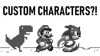 Google Dinosaur Game Custom Characters Tutorial
