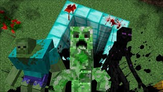 DON'T FALL INSIDE THIS DANGEROUS DIAMOND PIT / MUTATED CREATURES INSIDE !! Minecraft Mods