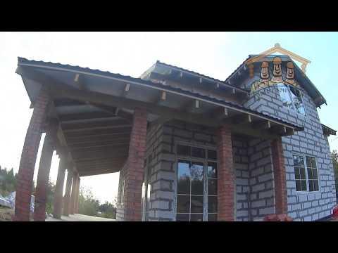 Строительство дома из газобетона 10.5х10.5 метров
