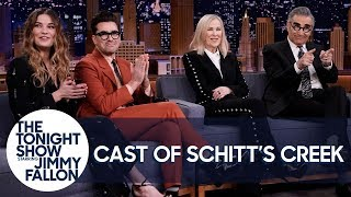 The Schitt's Creek Cast on Slow-Burn Success, Red Carpet Stanning and Moira's Wigs thumbnail