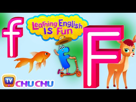 "Learning English Is Fun™ | Alphabet ""F"" 