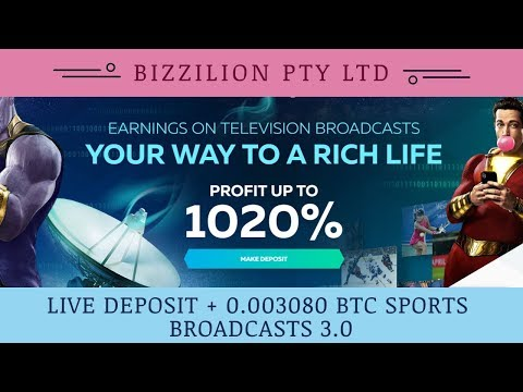 Bizzilion.com отзывы 2019, mmgp, SPORTS BROADCASTS 3 0, Live Deposit + 0 003080 BTC
