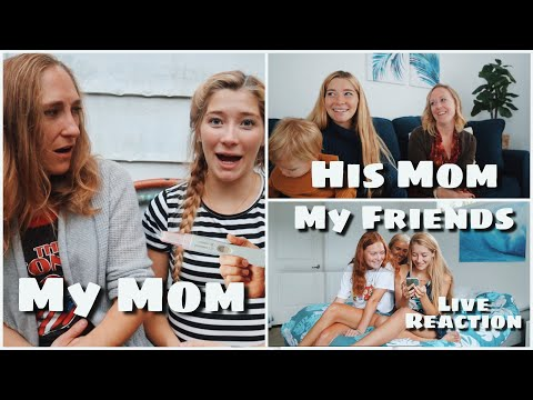 Telling our friends and family I'm pregnant AGAIN at 18 // LIVE REACTIONS!!