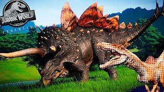 Spinoraptor, Stegoceratops e Ankylodocus!! DLC e ATUALIZAÇÃO FREE | Jurassic World Evolution | PT/BR