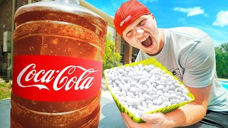 100 LAYERS Of MENTOS vs COKE! EXPERIMENT!
