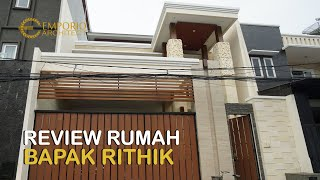 Video Construction Results Mr. Rithik Villa Bali House 2 Floors Design - Jakarta