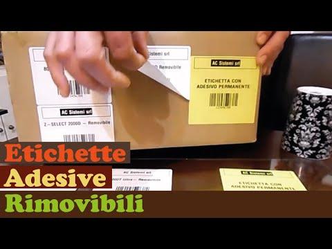 Etichette Adesive Rimovibili