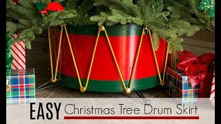 How To Make An EASY Christmas Tree Drum Skirt