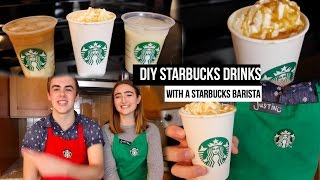 DIY Starbucks Drinks With A Starbucks Barista!