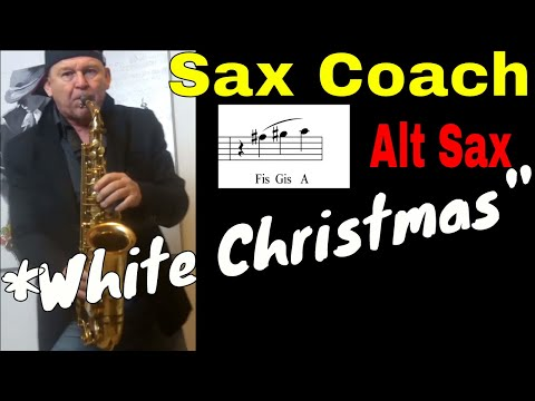 *White Christmas* Saxophone Solo *NEW Modern Arrangement* Backingtrack Noten Sheets